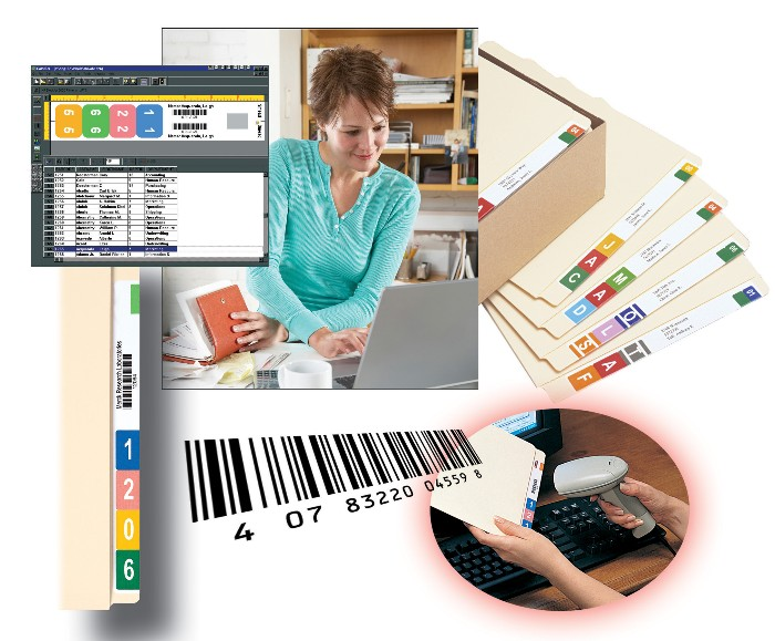 Bar Code File Tracking Color Code File Labels