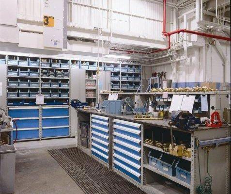 Car Workshop Storage Bin Shelving