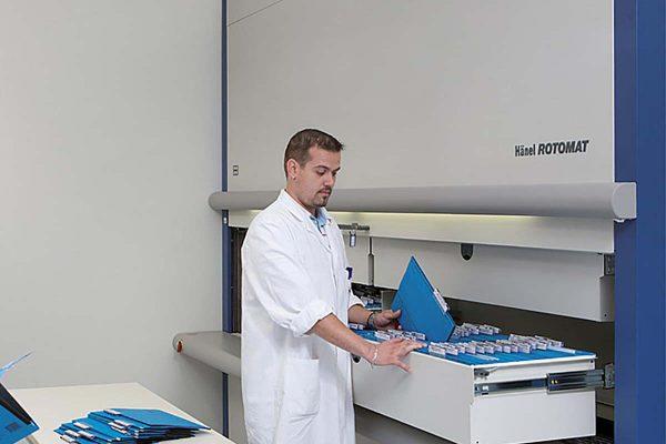 Vertical Carousel Medical Record Storage