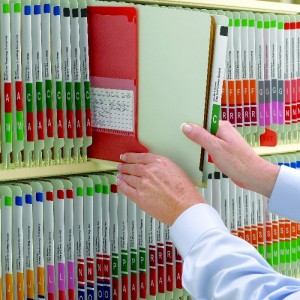 Colored Label Filing System, Color Coded Label System