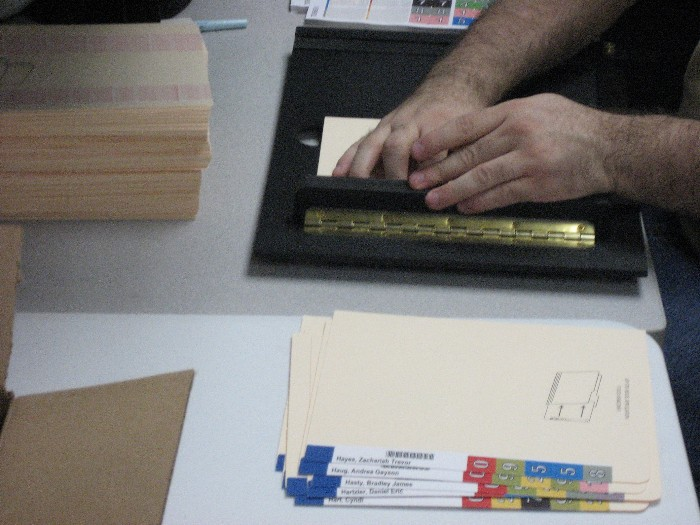Color Coded Extenda Labels, Color Coded Folder System