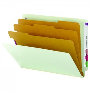 color coded file folders with dividers and partitions