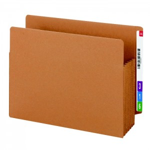 file folders with color coded labels, color coded expansion folder