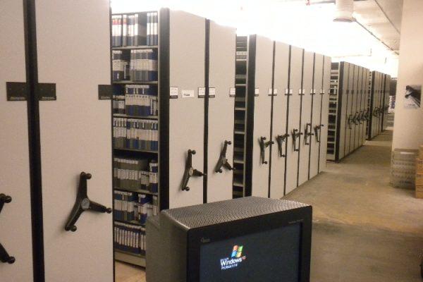 High Density Mobile Storage Tape Vault System