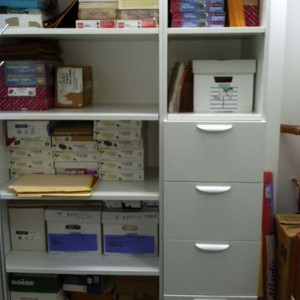 Laminated-shelving-and-drawer-combo