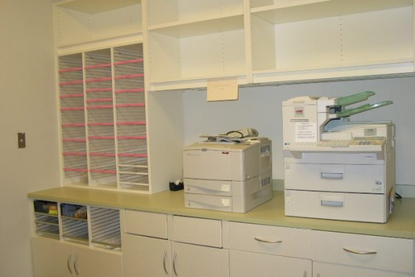 Modular Casework Furniture Copy Center