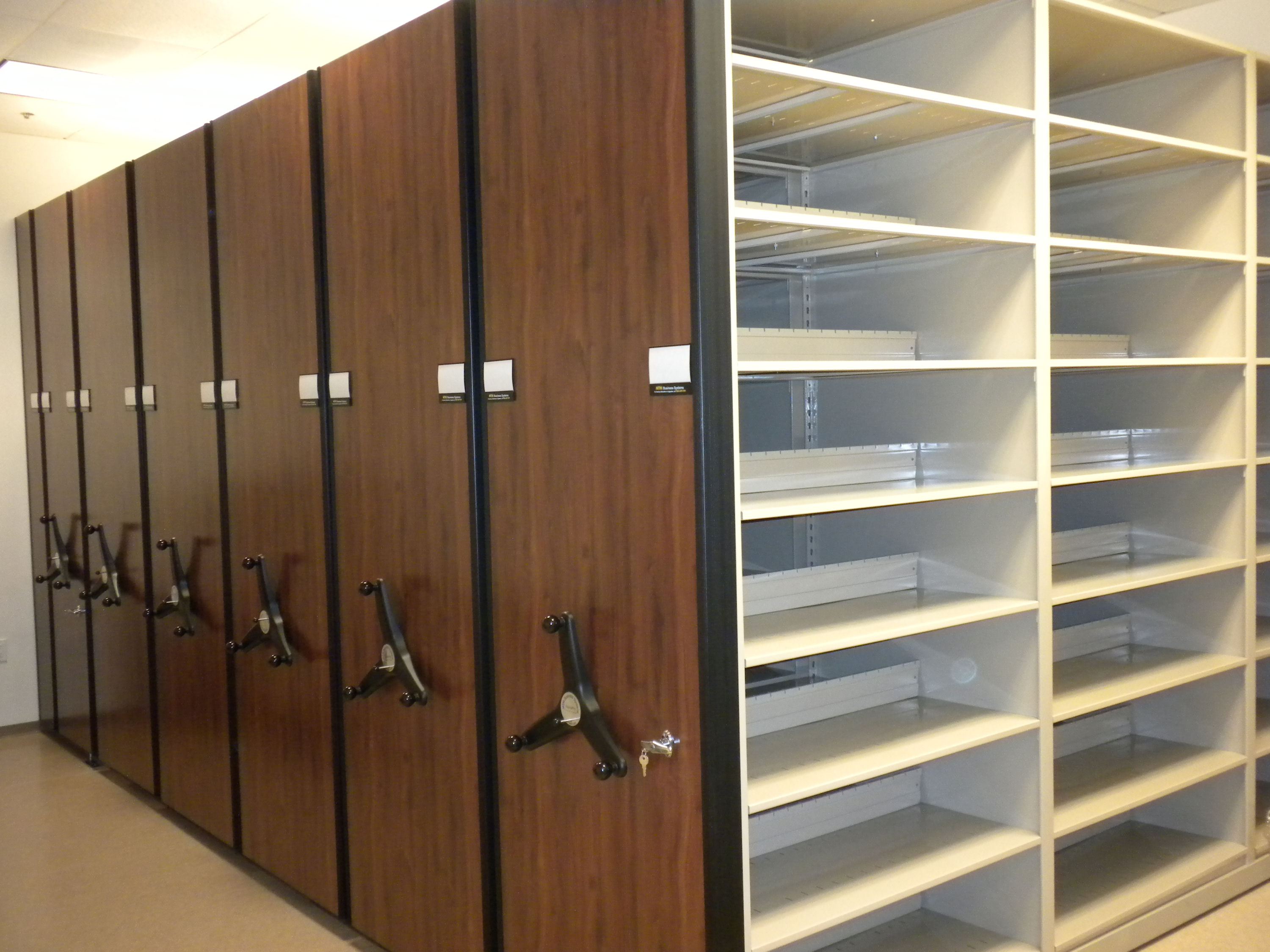 Shared Central File Room High Density Shelving with multiple system locks - Copy