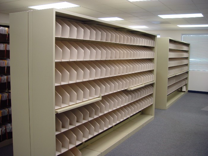 Unloaded File Move Shelving