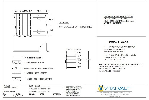 Vital Valt CAD drawing, High Density Storage Space Planning