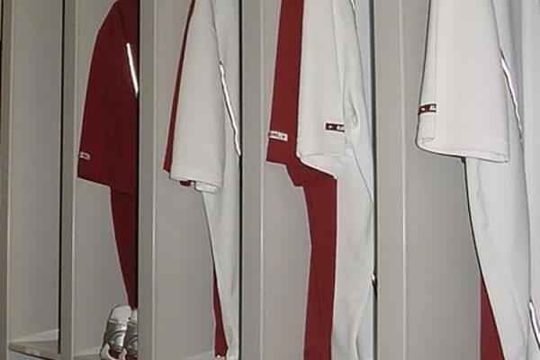 Athletic Gear Storage Shelving
