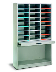Freestanding Sort Module with pullout shelf