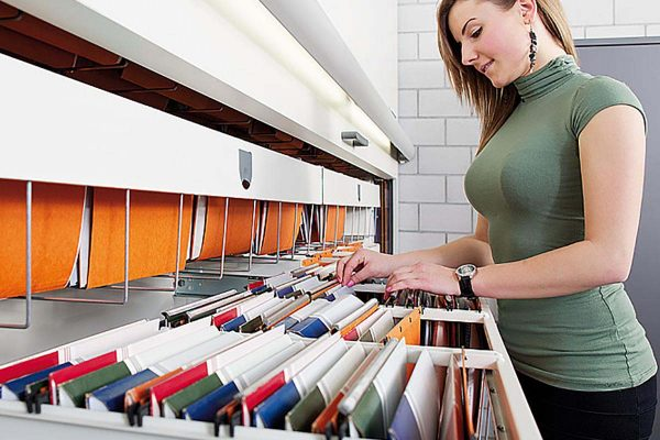 Vertical Storage Systems for Color Coded File Folders, Color Coded Filing System, Color Coded Labels