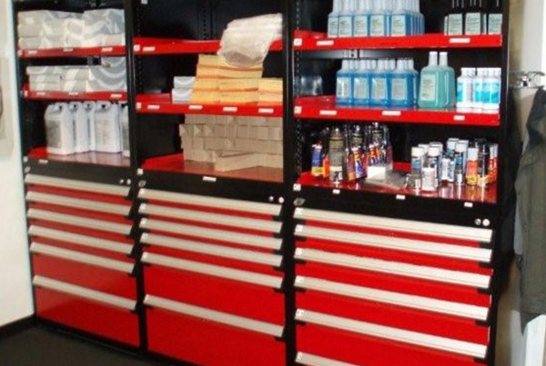 Automotive Parts Storage Cabinets, Modular Drawer Shelving