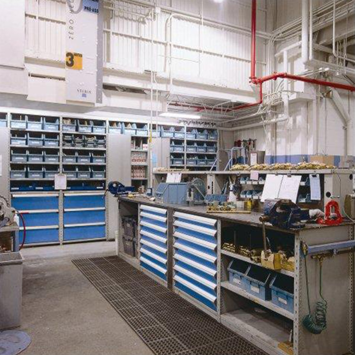 Automotive storage systems for Parts room organization