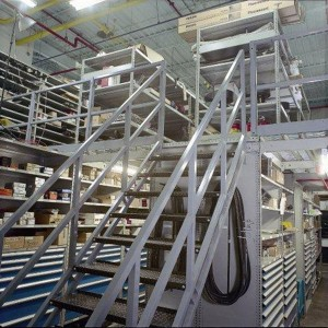 High-Density-Parts-Mezzanine-and-modular-drawer-storage-system