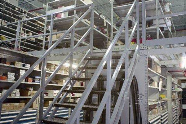 High Density Parts Mezzanine and modular drawer storage system
