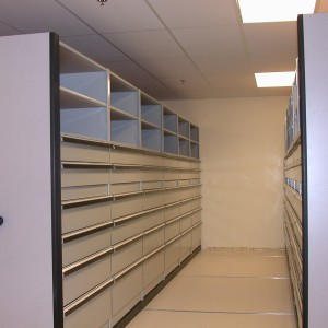 High-Density-Shelving-with-drawers-for-material-handling