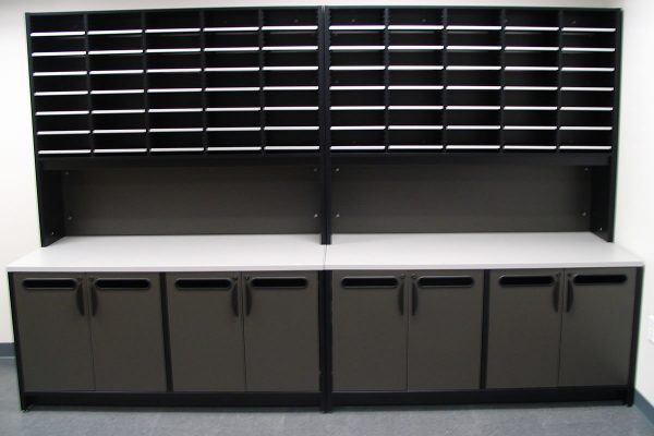 Mail Room Sort Module on Mail Room Console Table