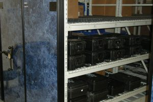 Military Pelican Case High Density Shelving, Wide Span Shelving
