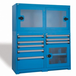Modular-Drawer-Cabinet-with-Overstorage-Locking-Cabinet