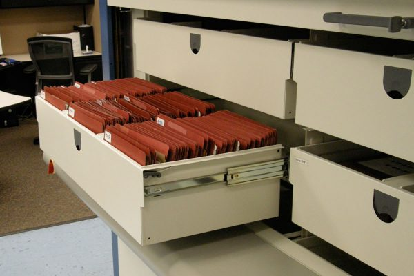 Hanel Rotomat Roll Out File Drawer for top tab file folders