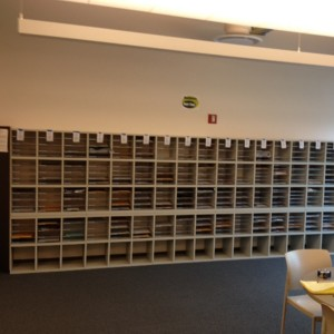 School Literature Rack Storage