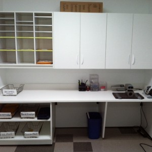 School Break Room Modular Millwork