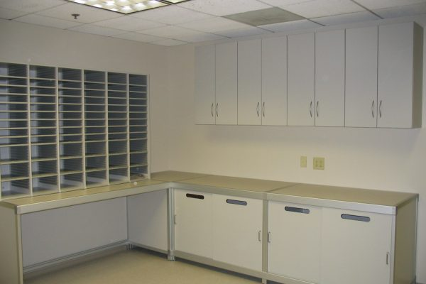 Document Processing Modular Casework for Office or mailroom