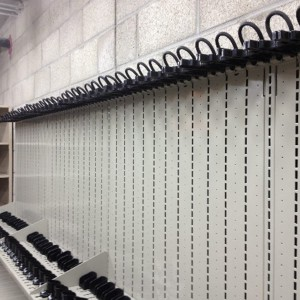 Square-Weapon Shelving for law enforcement armory