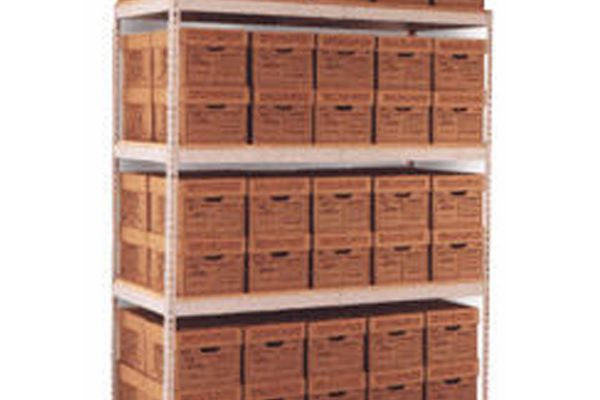 Wide Span Archive Box Storage Shelving