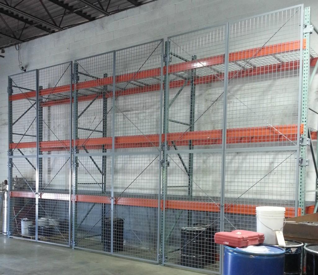 Pallet rack doors pallet rack security doors secure for Warehouse racking design software