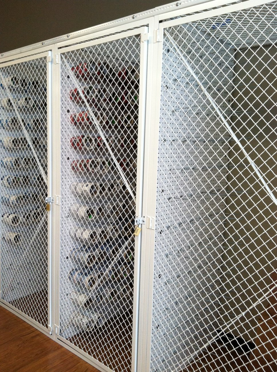 Wire Security Cages, Woven Wire Cage Storage Lockers