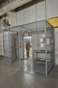 Woven Wire Security Cage for warehouse entrance