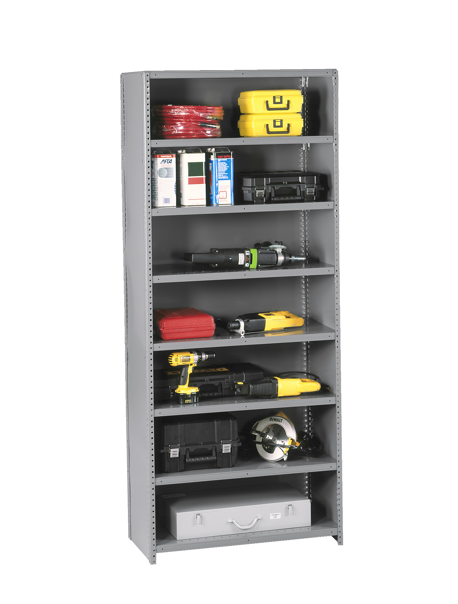 industrial clip shelving industrial clip style steel. Black Bedroom Furniture Sets. Home Design Ideas
