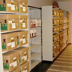 Vital Valt Storage - Archive Box Shelving System - Lateral Mobile Shelving Unit