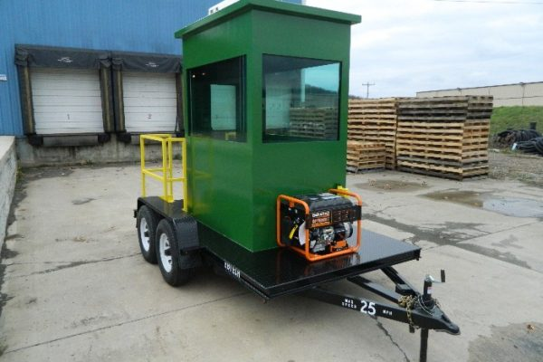 Portable Security Booth Trailer with power generator