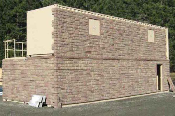 MOUT Village Facade, Conex Box Repurposing