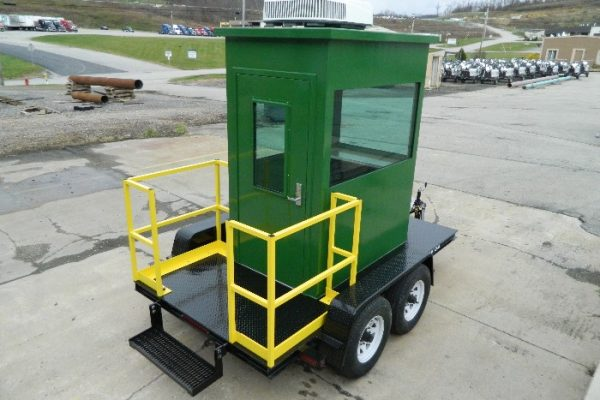 Portable Guard Building with trailer
