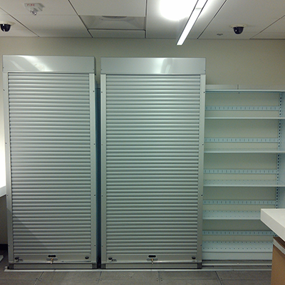 VitalValt Lateral Compact Shelving with Security Doors
