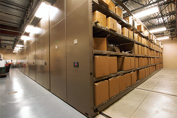 High Density Powered Mobile Shelving