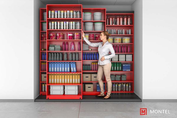 Manual Assist Mobile Shelving