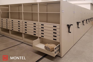 Mechanical Assist High Density Mobile Shelving Systems