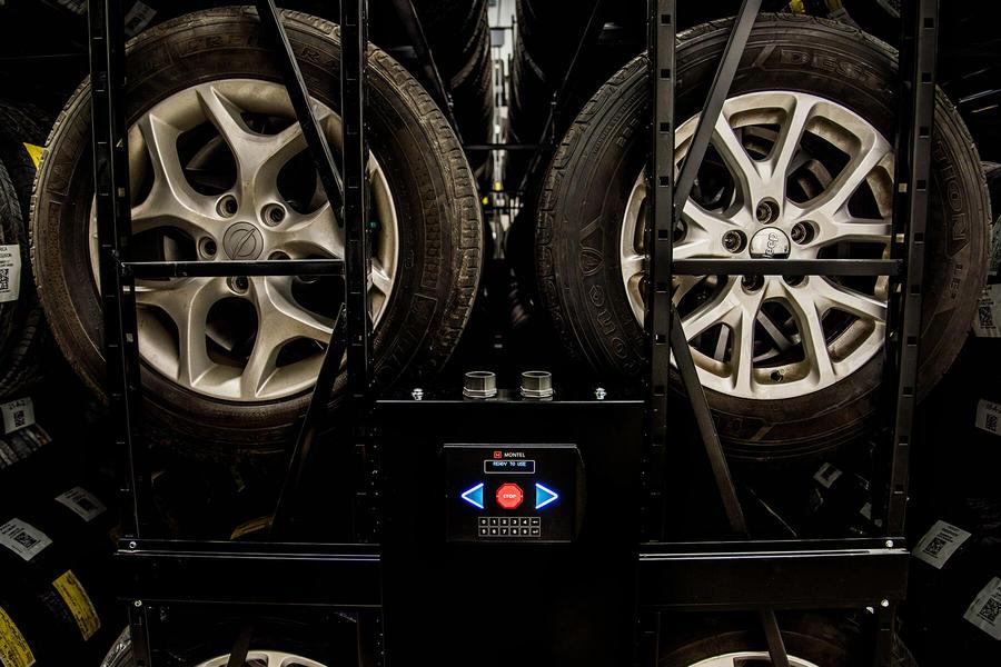 High Density Mobile Racking System for Tires