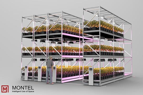 High-Density Indoor Vertical Grow Rack System