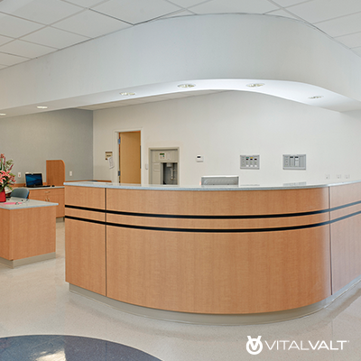 Medical Reception Desk - Healthcare Reception Station