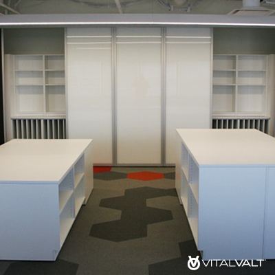 Modular Movable Furniture for Small Office Storage Solutions