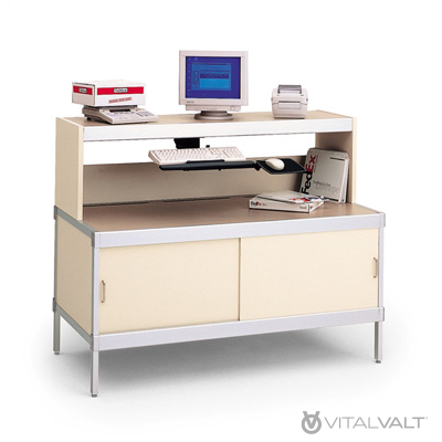 Office Mailroom Furniture Aluminum Framed Console