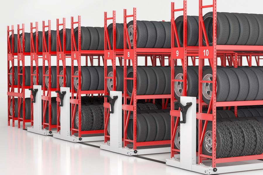 Mechanical Assist Tire Storage