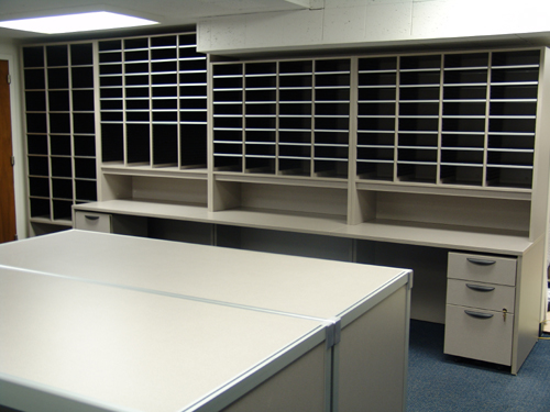 Aluminum Framed Consoles Mailroom Furniture