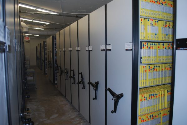 Compact Shelving for Studio Film Vault Storage